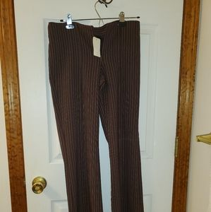 NEW with tag. My Michelle brown pinstripe slacks.